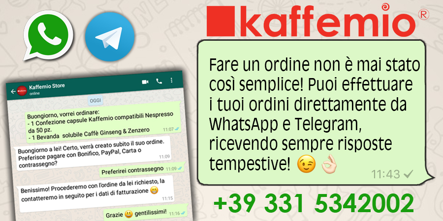 Ordina con Whatsapp o Telegram